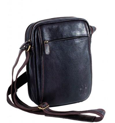 bolso de cuero con bandolera de cuero para hombre