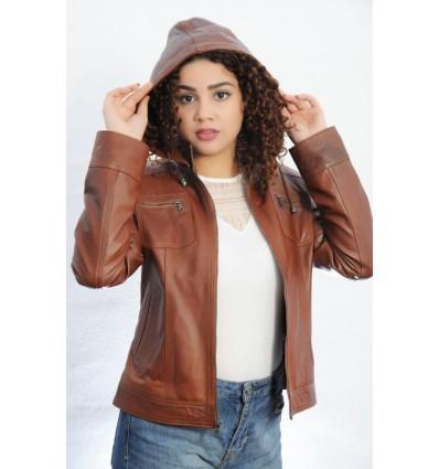 nuevo estilo 13030 63598 Chaqueta de Cuero Mujer GJ076