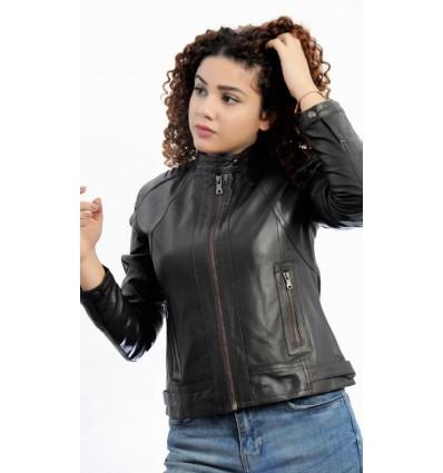 mejor sitio web c9ce0 a06f8 Chaqueta de Cuero Mujer GJ927 | Cazadora de Cuero Mujer